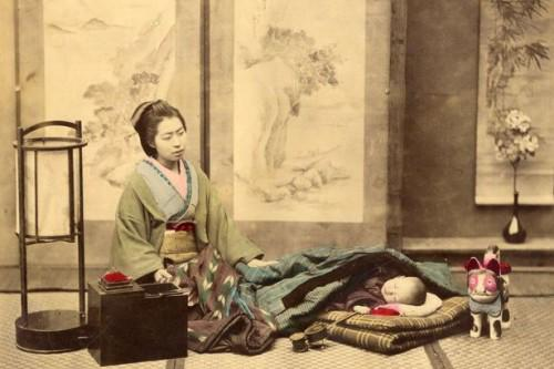 1865 japanese mother w child