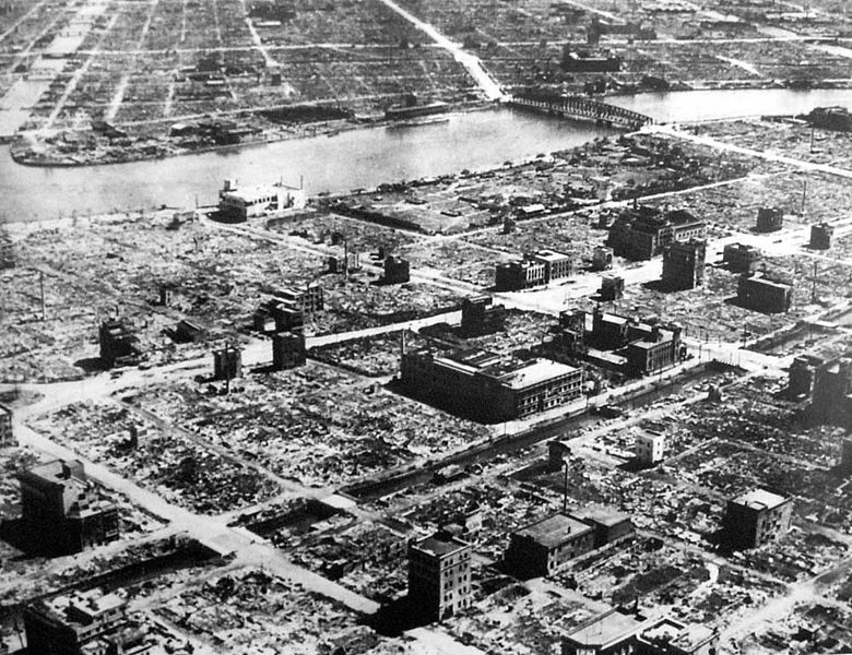 Tokyo, 1945. Like its capital, most of Japan lay in ruins after the war.