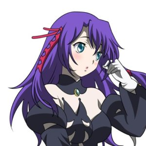 Anime purple hair girl
