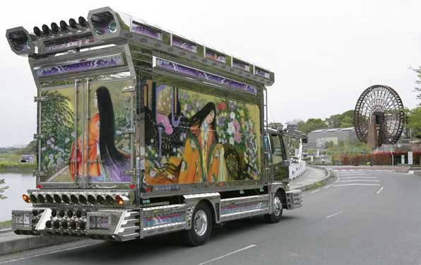 A classic style art truck