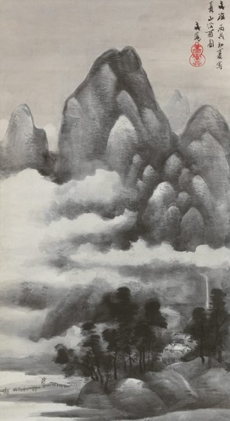 Early Summer Mountains in the Rain. Tani Buncho  c. 1826