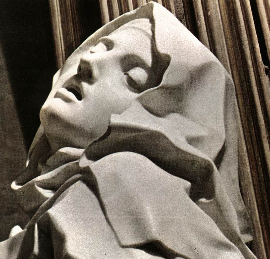 he Ecstasy of Saint Therese. Gian Lorenzo Bernini, 1647-1652.  The expression of pleasure of Saint Therese caused a fair bit of controversy.