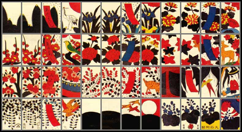An example of hanafuda cards. Nintendo still makes these using their properties. You can find Mario and Pokemon sets.