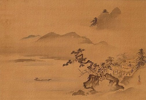 Kano Chikanobu - Mountain and the Stonecutter