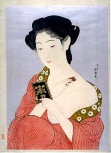 Woman Applying Powder. Goyo Hashiguchi. c. 1918