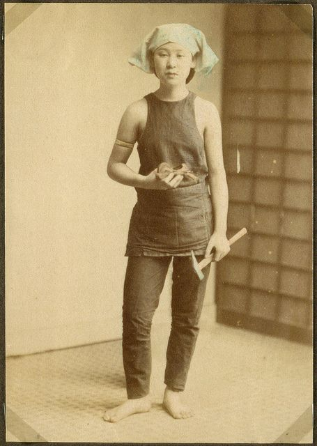 Working woman, Japan, c 1900. National Museum of Denmark.